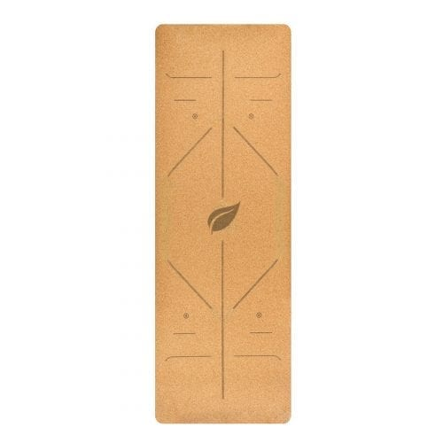 Pureful Cork Alignment Yoga Mat