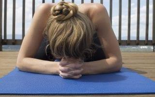 slippery yoga mat